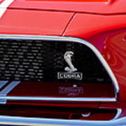 1968 Ford Mustang 427 Ci Fastback Grille Emblem Poster