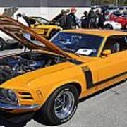 1970 Boss Mustang Poster