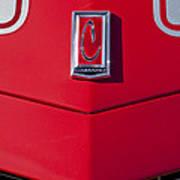 1971 Chevrolet Camaro Hood Emblem Poster