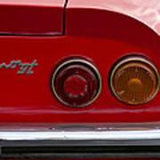 1972 Ferrari Dino 246gt Taillight Emblem Poster
