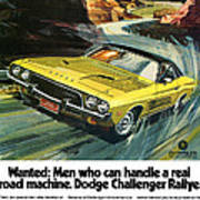 1973 Dodge Challenger Rallye Poster