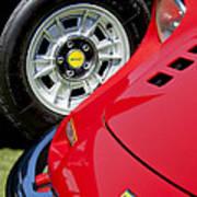 1973 Ferrari 246 Gts Dino Emblem 5 Poster