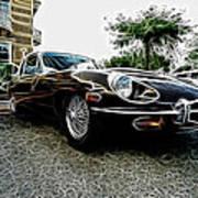1973 Jaguar Type E Fantasy  Poster