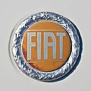 1977 Fiat 124 Spider Emblem Poster