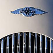 1977 Morgan Plus 4 Hood Emblem Poster