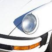 1987 White Porsche 911 Carrera Front Poster