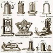 19th Century Electrical Equipment Poster
