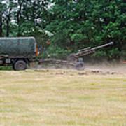 A Belgian Artillery Unit Setting Poster