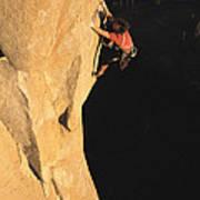 A Man Rock Climbing On El Capitan Poster
