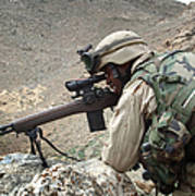 A Soldier Provides Security Poster