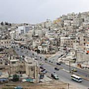 A Street Scene In Amman, Jordan Poster by Taylor S. Kennedy