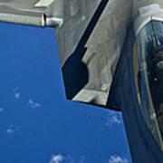 An F-22 Raptor In Flight Poster