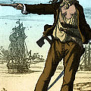 Anne Bonny, 18th Century Pirate Poster