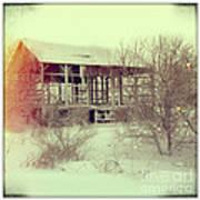 Barn In Snow Poster