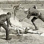 Baseball Game, 1885 Poster