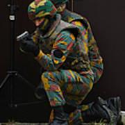 Belgian Paracommandos Entering Poster by Luc De Jaeger
