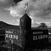 Bodegas El Grifo  Poster