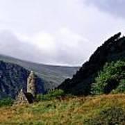 Chapel Of Saint Kevin At Glendalough Poster