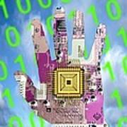 Cybernetics And Robotics Poster by Victor De Schwanberg