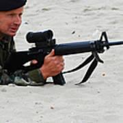 Dutch Royal Marines Taking Part Poster
