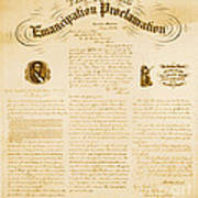 Emancipation Proclamation Poster by Photo Researchers