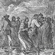 Escaping To Underground Railroad Poster by Photo Researchers