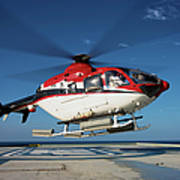 Eurocopter Ec135 Utility Helicopter Poster