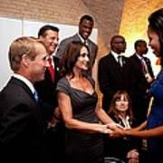 First Lady Michelle Obama Greets Poster