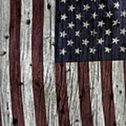 Grungy Textured Usa Flag Poster