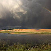 Hail Storm And Rainbow Poster