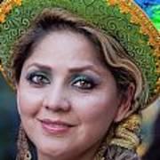Hispanic Columbus Day Parade Nyc 11 9 11 Female Marcher Poster
