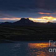 Iceland Midnight Sun Poster