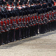 Irish Guards March Pass During The Last Poster by Andrew Chittock