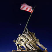 Iwo Jima Memorial At Dusk Poster