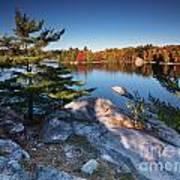 Lake George At Killarney Provincial Park In Fall Poster