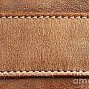 Leather With Stitching Poster