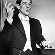 Leonard Bernstein 1918-1990 American Poster by Everett