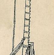 Leonardo Da Vincis Lifting Gear Poster by Science Source