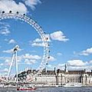 London Eye And County Hall Poster