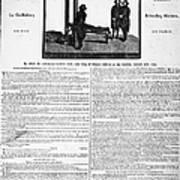 Louis Xvi: Execution, 1793 Poster