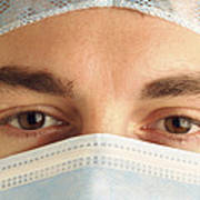Male Surgeon Poster by Tim Vernonlth Nhs Trust