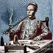 Man Smoking Opium Poster by Science Source