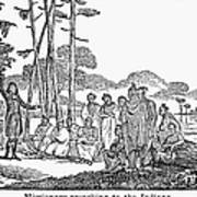Missionary And Native Americans Poster