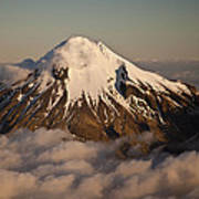 Mount Taranaki Above The Clouds New Poster