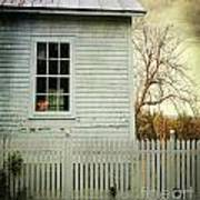 Old Farm  House Window  Poster by Sandra Cunningham