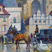 Prague Old Town Square 01 Poster by Yuriy  Shevchuk