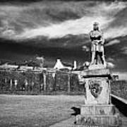 robert the bruce statue at stirling castle Scotland UK Poster