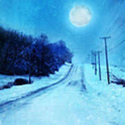 Rural Road In Winter Poster