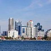 San Diego Skyline Poster by Jeff Lowe