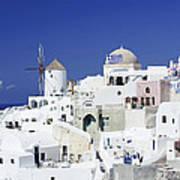 Scene In Santorini Island Greece Poster